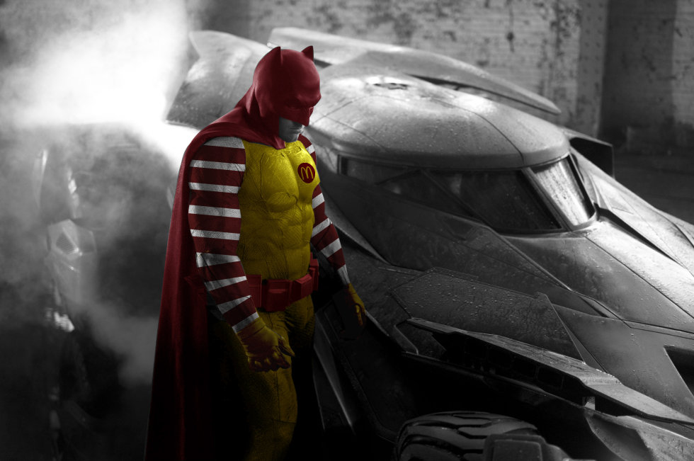 ban affleck batman ronald mcdonald
