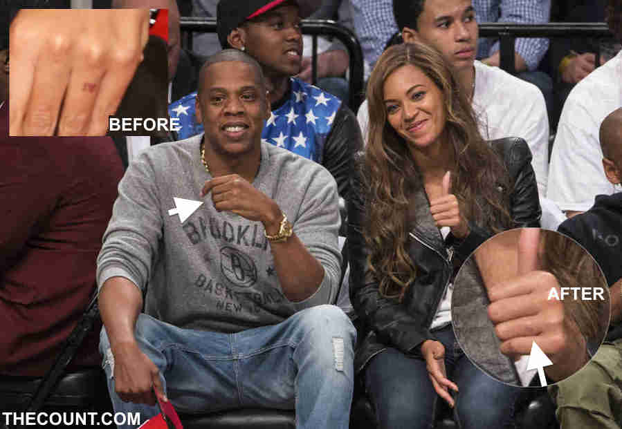 beyonce removing jay z tattoo 2