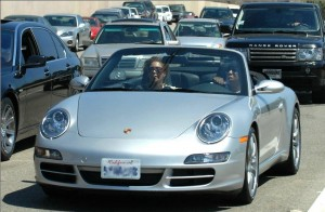 Beyonce & Jay-Z in Porsche