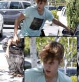 bieber demonic 155x160 SUSPECT!! Demonic Justin Bieber Attacks Selena Gomez Others In Street! (UPDATED! 19 Photos)