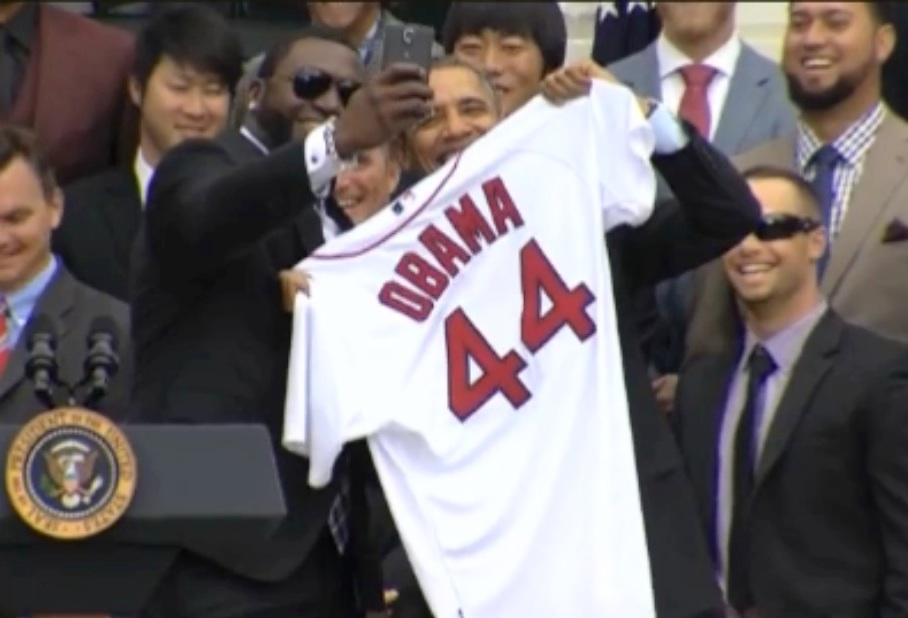 big Papi obama selfie 1
