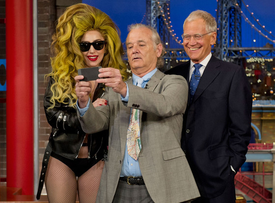 bill murray gaga selfie letterman