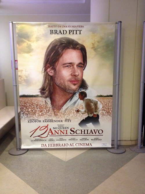 brad pitt 12 years a slave poster italy