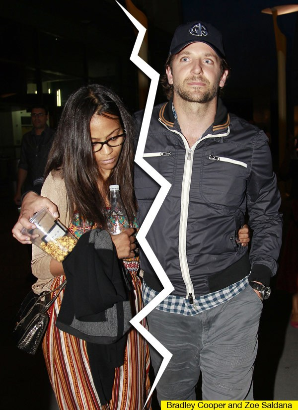 bradley cooper and zoe saldana lead 1 Bradley Cooper DUMPS Girlfriend For Christmas