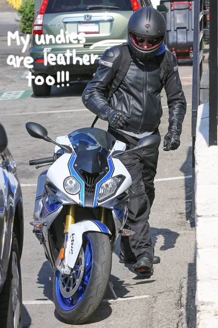 bradley cooper black doodle  oPt Bradley Cooper TEMPTING FATE Riding Incognito CROTCH ROCKET In L.A.