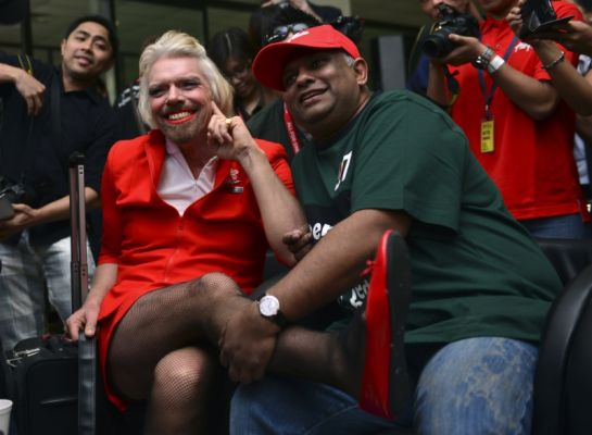 branson Richard Branson LOSES BET! PAYS UP! Transforms Into FEMALE FLIGHT ATTENDANT!