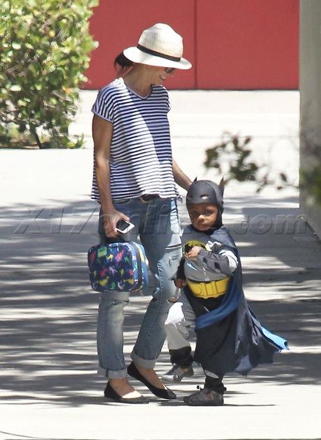 Louis Bullock looking tough in his Batman costume