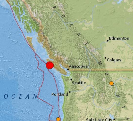 canada quake 6.71 6.7 Earthquake ROCKS Canada