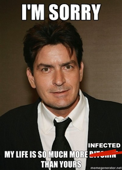 charlie sheen hiv aids memes 10