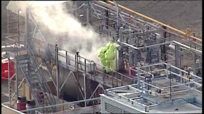 chemical leak at a refinery in Linden NJ
