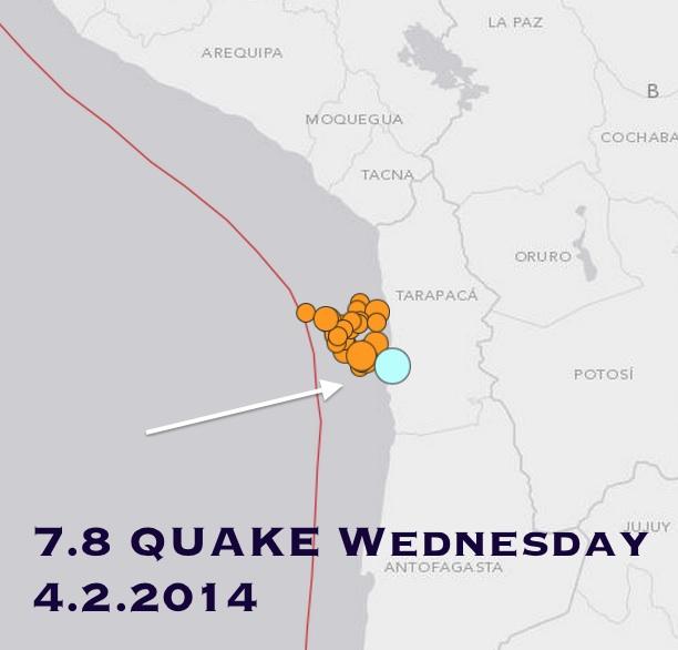 chile 7.8 quake