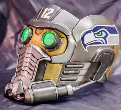 chris pratt seattle seahawks star lord helmet