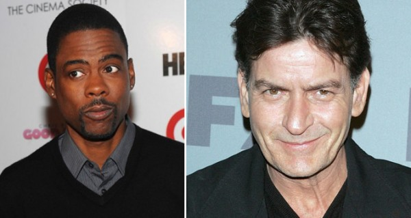 Charlie Sheen and Chris Rock same age, 47.