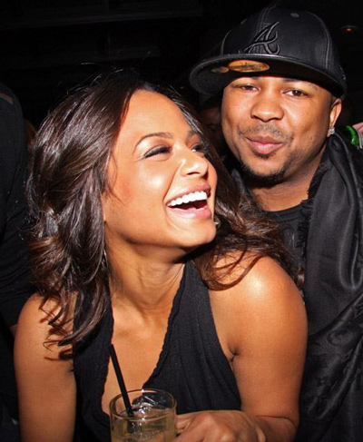 Christina Milian and her hubby to be The Dream