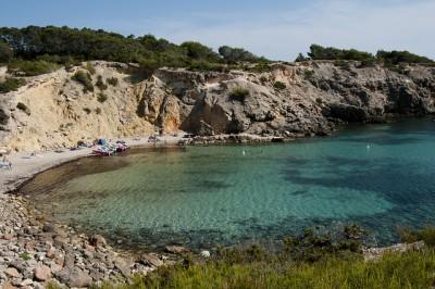 cliffs of Cala Tarida in Ibiza 2