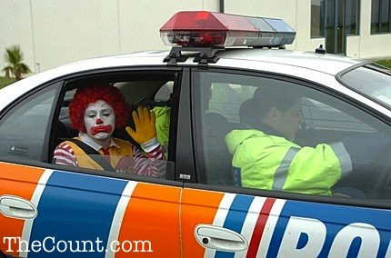 James Holmes Pictured In Back Of Police Squad Car (Humor Meme)