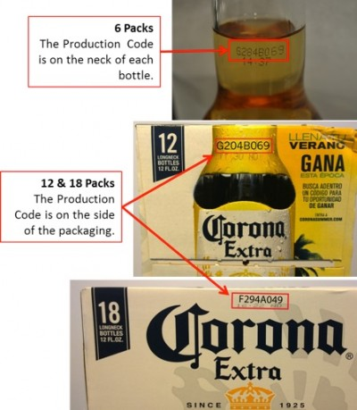 corona extra recall-production-codes