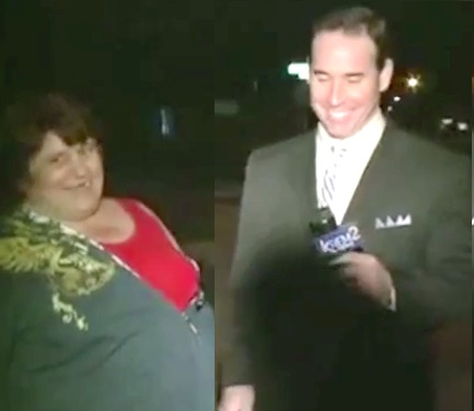 crazy lady drunk reporter