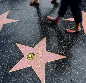donald trump hollywood star