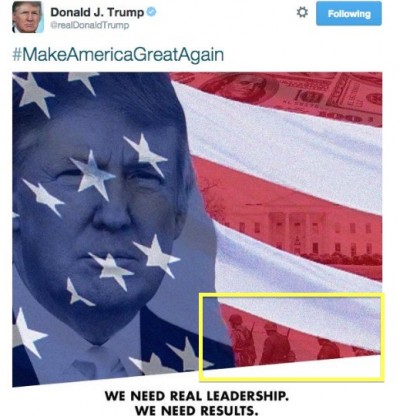 donald trump nazi soldiers america flag 2