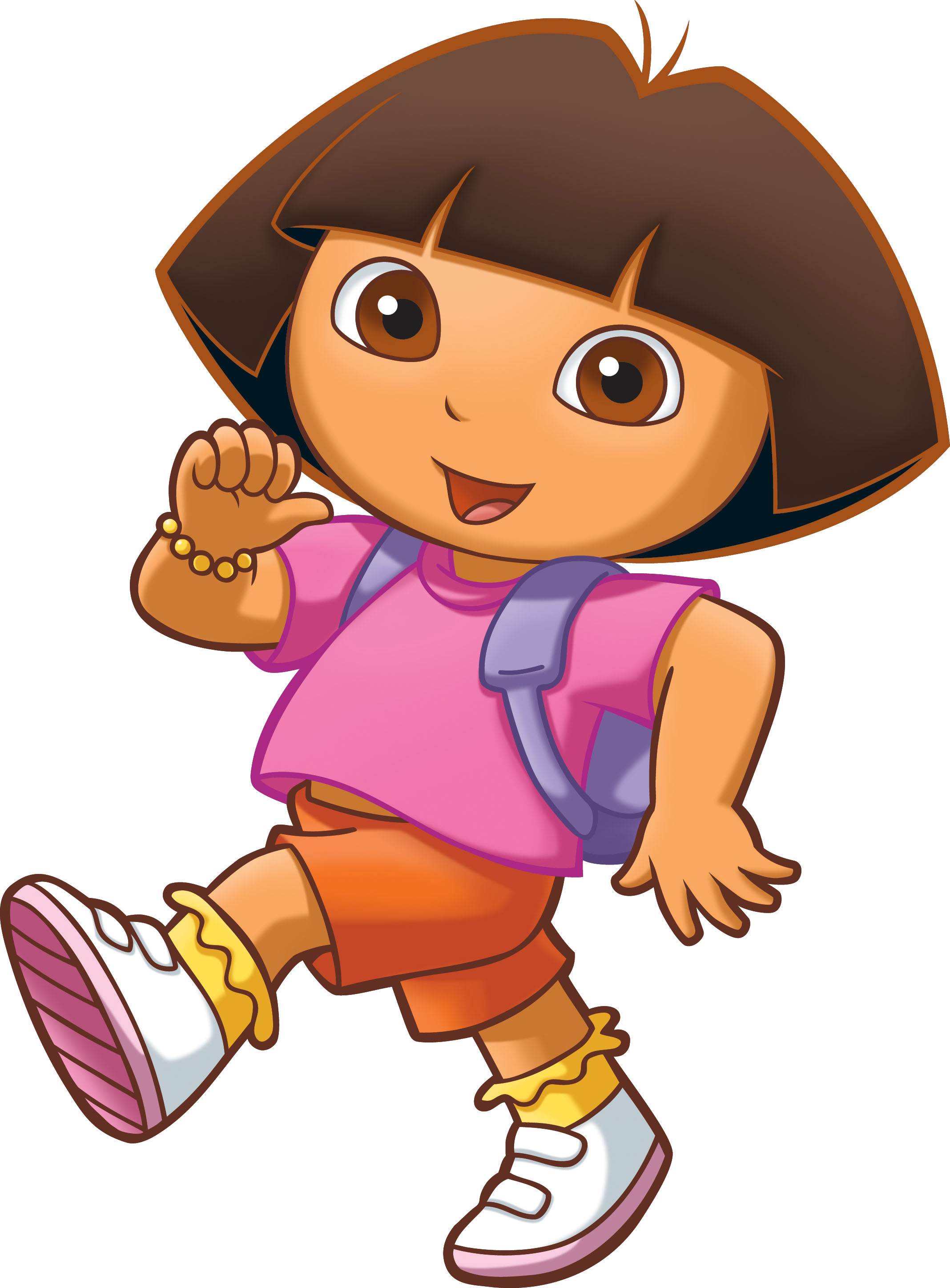 little cartoon girl with brown hair. other little girl cartoon