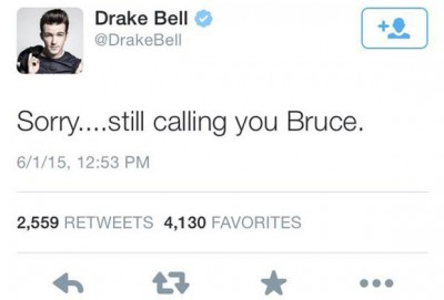 drake bell bruce jenner tweet 400x271 Drake Bell TWEETS n DELETES Caitlyn Jenner And WE GOT IT!