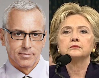 drew pinsky hillary clinton 400x317 Dr Drew Show CANCELED Days After Questioning Hillary Health