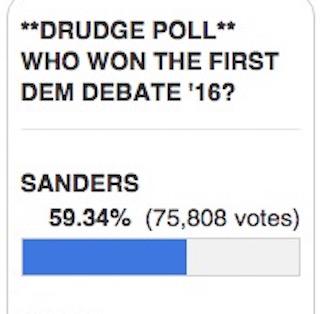 drudge report debate poll