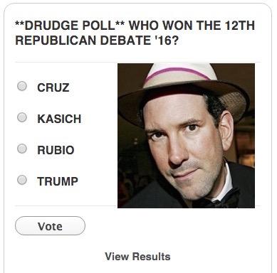drudge report gop poll