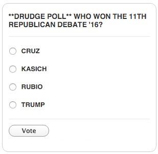 drudge report gop poll vote