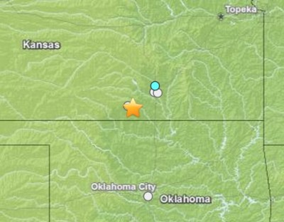earthquake 4.4 Harper, Kansas