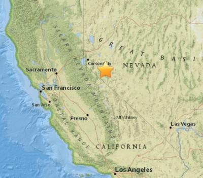 earthquake Hawthorne, Nevada