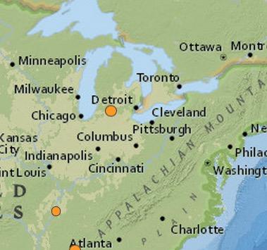 earthquake Union City, Michigan 2