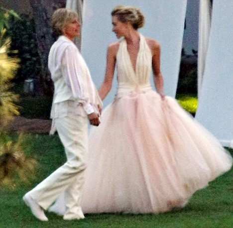 Ellen Degeneres and Portia DiRossi Wed in Beverly Hills