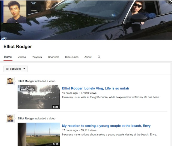 elliott rodger youtube video