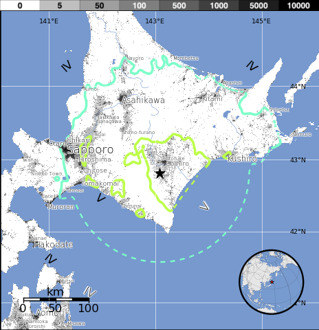 exposure small 6.9 Earthquake Rocks Japan