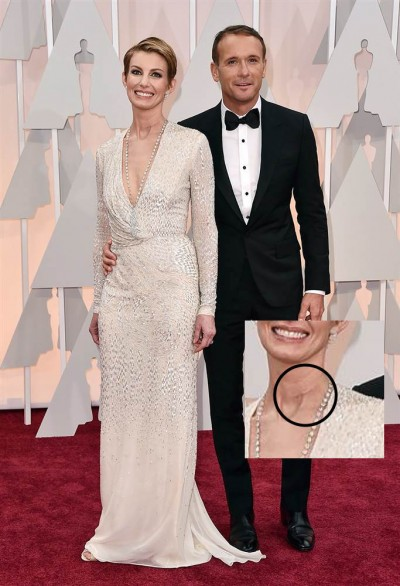 faith hill scar neck oscars 6