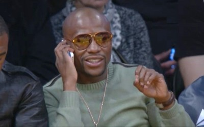 floyd mayweather lakers 2014