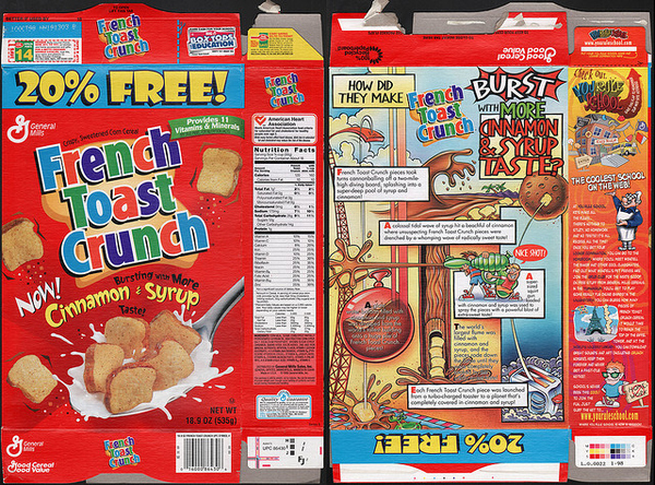 french toast crunch 7 Fun Foods Banished   Do You Remember Them?