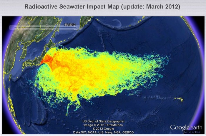 fukushima radiation map 700x463 Shocking Video: Fukushima Radiation Has Arrived In San Francisco