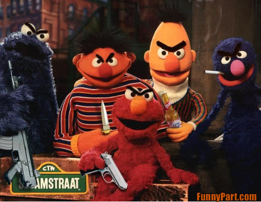 funnypart com evil sesame street Sesame Street Is Going Down The Manhole