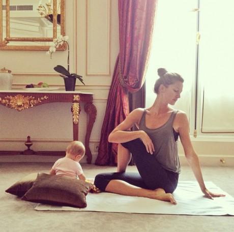 gisele practices yoga2