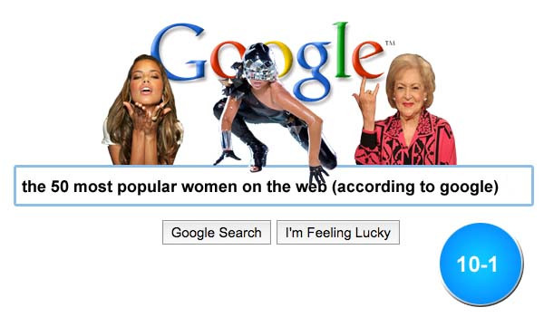 google 10 1 Justine Bieber Makes Google TOP 50 Most Popular WOMEN On Web!