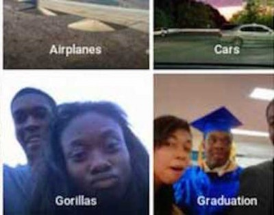 google photo tagging app gorillas 400x313 Google SLAMMED After Photo Tagging App Labels Black Couple As GORILLAS