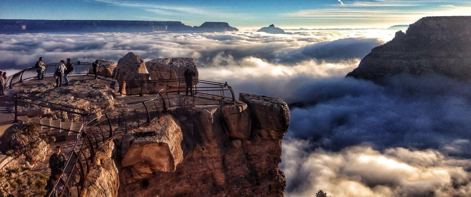 grand canyon filled clouds