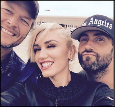 Blake Shelton, Gwen Stefani, & Adam Levine pic