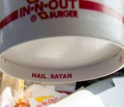 hail satan in-n-out cups