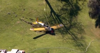 harrison place crash Penmar golf course california venice 21 400x214 Harrison Ford Involved In Plane Crash Critical Condition