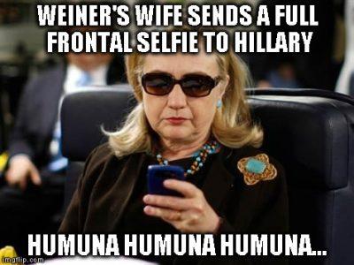 hillary anthony weiner huma meme 400x300 top 10 funniest hillary clinton meets anthony weiner memes