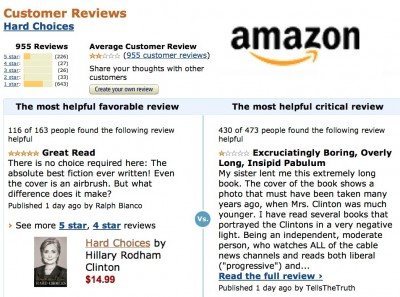 hillary clinton hard choices reviews amazon